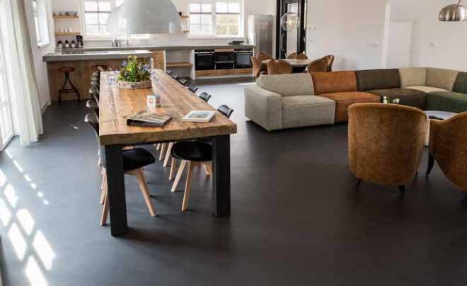 Vloeren Groningen, een mooie betonlook vloer laat je leggen door Smid Interieur.