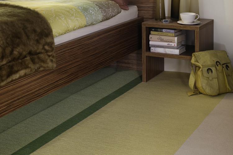 Fijn tapijt van Tretford, heerlijk aan je voeten op de slaapkamer