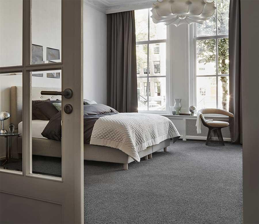 Tapijt Groningen van Desso in een slaapkamer